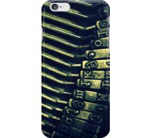 Typewriter Keys iPhone Case/Skin