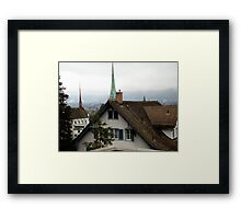 Rooftops in Zurich Framed Print