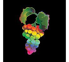 Rainbow Grapes Photographic Print