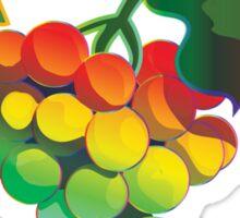 Rainbow Grapes Sticker