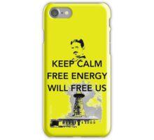 Keep Calm Tesla Free Us iPhone Case/Skin