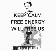 Keep Calm Tesla Free Us One Piece - Long Sleeve