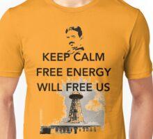 Keep Calm Tesla Free Us Unisex T-Shirt