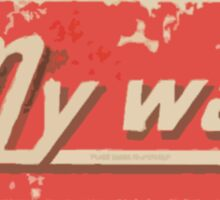 My Way Sticker