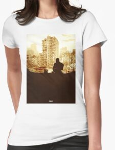 Minimal Silhouette Poster Design Apocalypse Gaming Womens Fitted T-Shirt