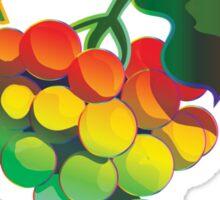 Grapes Rainbow Style Sticker