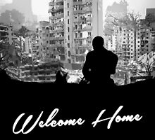 Minimal Silhouette Poster Design - 'Welcome Home' by doughballdesign