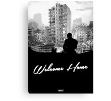 Minimal Silhouette Poster Design - 'Welcome Home' Canvas Print