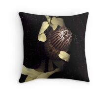 Banksia menziesii (Firewood banksia), flower scan II Throw Pillow