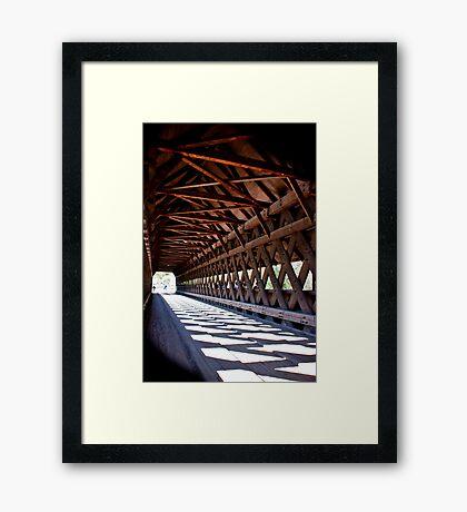 Cross Hatch Trusses Framed Print