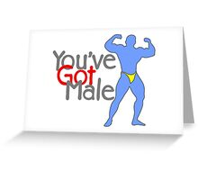 You've Got Male Greeting Card