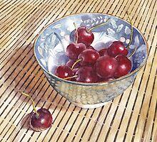 Cherries on Bamboo by Ann Nightingale