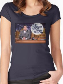 Tonight Show Jimmy Fallon Women's Fitted Scoop T-Shirt