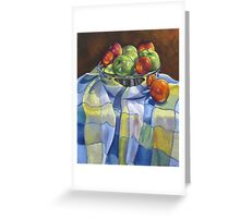 Apples and Nectarines Greeting Card