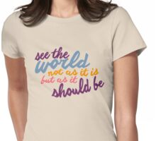 See The World #2 Womens Fitted T-Shirt