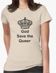 God Save the Queer Womens Fitted T-Shirt