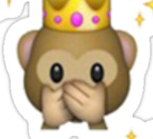CROWN MONKEY EMOJI Sticker