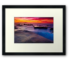 Sunset in La Jolla California Framed Print