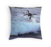 Emperor Penguin 'Flying' Home Throw Pillow