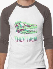 Velociraptor Skull Men's Baseball ¾ T-Shirt