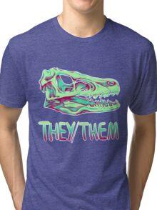 Velociraptor Skull Tri-blend T-Shirt