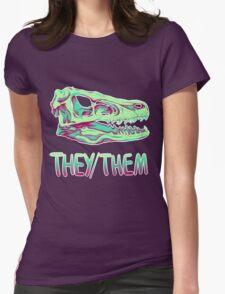 Velociraptor Skull Womens Fitted T-Shirt