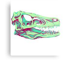 Velociraptor Skull Metal Print