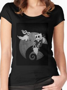 The Nightmare Before Adventure Time Women's Fitted Scoop T-Shirt