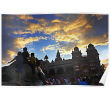 Kids see  Mysore palace Poster
