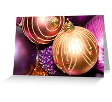 Coloured Baubles Greeting Card