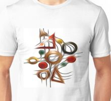 Abstract Shapes Oil Painting #1 Unisex T-Shirt