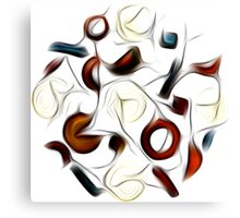 Abstract Shapes Oil Painting #2 Canvas Print