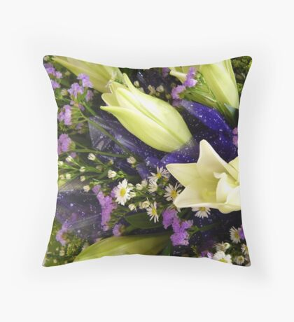 A bouquet of white Lily Throw Pillow