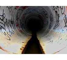 Sewer Seeker,San diego Tunnels Photographic Print
