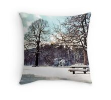 National Park Plitvice Throw Pillow