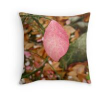 Little Red Leaf Throw Pillow