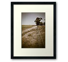 On the fence - York, WA Framed Print