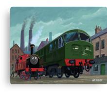 Big train little train Canvas Print
