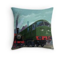 Big train little train Throw Pillow