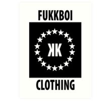 FUKKBOI CLOTHING | ALL STAR Art Print