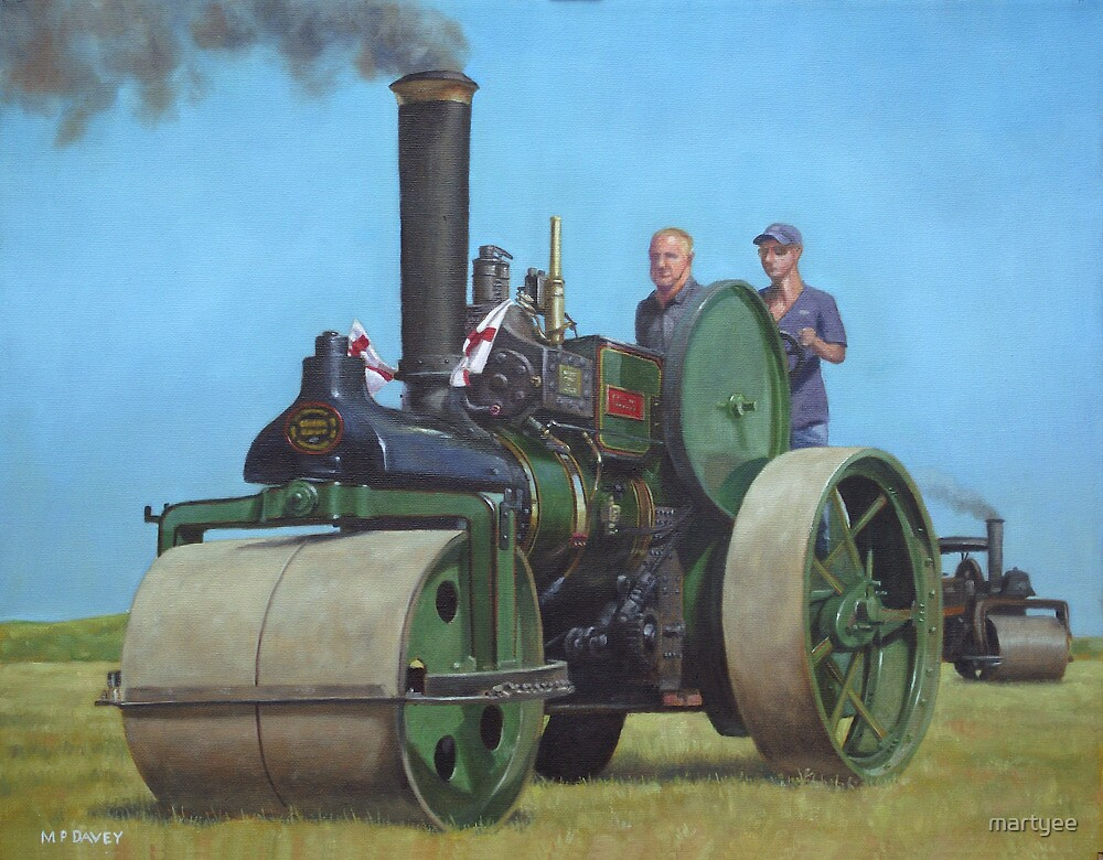 steam traction engine by martyee