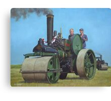 steam traction engine Canvas Print