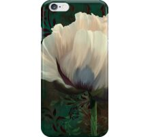 Poppy and Verdigris, dramatic cream poppy floral art iPhone Case/Skin