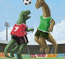 dinosaur football sport game by martyee