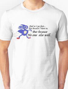 So I Go Fast - Sanic T-Shirt