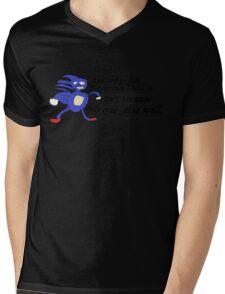 So I Go Fast - Sanic Mens V-Neck T-Shirt
