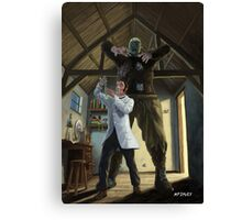 monster loose in victorian science laboratory Canvas Print