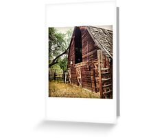 Rustic, Abandoned, Red Hay Barn Greeting Card