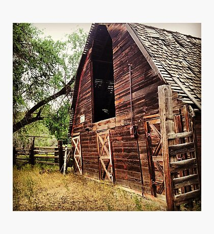 Rustic, Abandoned, Red Hay Barn Photographic Print