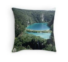 Plitvice Lakes Throw Pillow